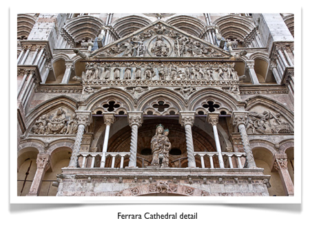 Ferrara Cathedral front detail